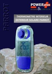 thermometre interieur exterieur solaire parrot - Eqwergy
