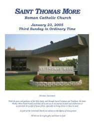 SAINT THOMAS MORE - St. Thomas More Church
