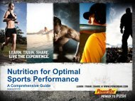 Nutrition For Optimal Sports Performance - PowerBar.Com