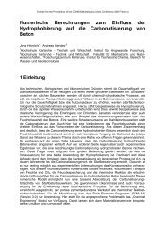 Numerische Berechnungen zum Einfluss der ... - COMSOL.com
