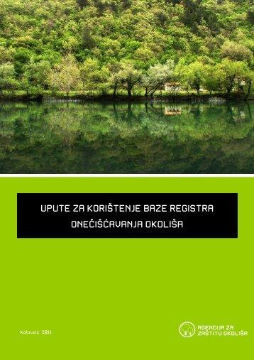 Upute za korištenje baze ROO - Agencija za zaštitu okoliša