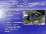 Steve Newton, BirdWatch Ireland - Invasive Species Ireland