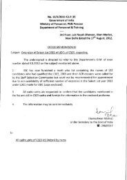 No. 12/1/2011-CS.II (B) Government of India Ministry of Personnel ...