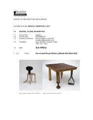 Topic Outline for Sue Hillery's Design 4 Studio PDF