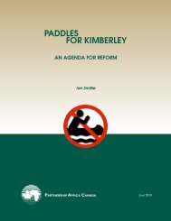 Paddles for Kimberley.indd - Partnership Africa Canada