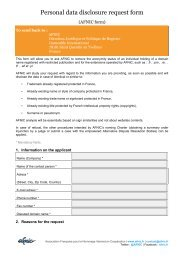 Download the personal data disclosure request form - Afnic