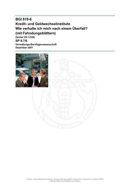 BGI 819-6 Kredit - beim Carl Heymanns Verlag