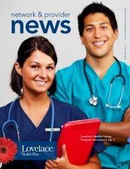 Network & Provider News Spring 2013 - Lovelace Health Plan