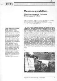 Meuleuses portatives. Bilan des - Unité Hygiène et Physiologie du ...