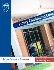 View Catalog - Emory Continuing Education - Emory University