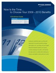 2009 Annual Enrollment Guide - Benefits Online