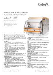 GEA Niro Soavi Ariete NS5355 Tech Sheets ENG Rev05 2012 Flash ...