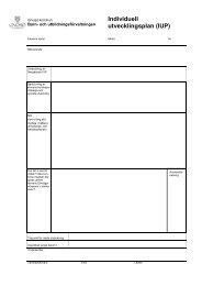 Individuell utvecklingsplan (IUP) - Gnosjö kommun