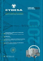 Descarga el catálogo 2007 (pdf) - Cydesa