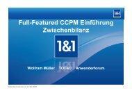 Zwischenbericht 1&1 goes CCPM - speed4projects
