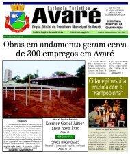 Obras em andamento geram cerca de 300 empregos em Avaré