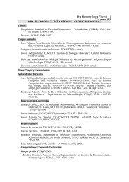 Curriculum Vitae GARCÍA VESCOVI Eleonora - Facultad de ...