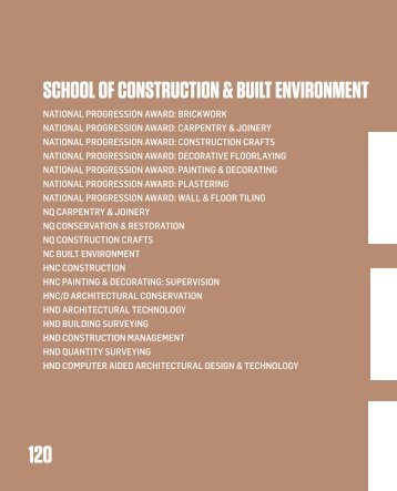 school of construction & built environment - City of Glasgow College