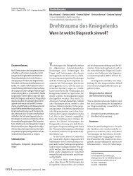 Drehtrauma des Kniegelenks - Springer
