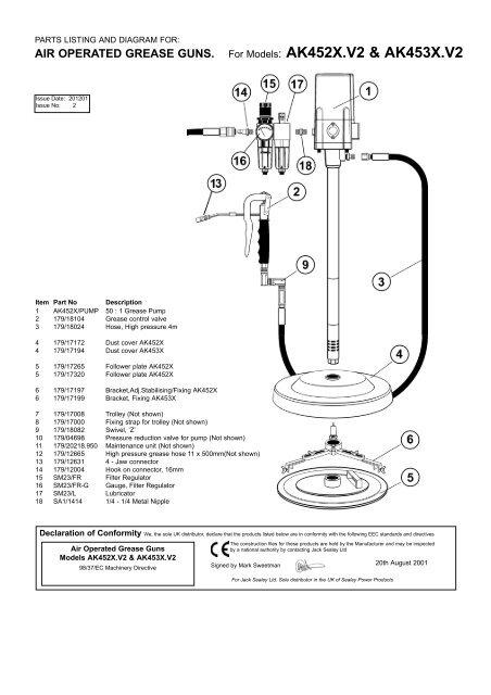 Sealey ak41 calfeutrage gun 220mm air exploité