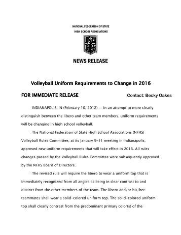 2012-13 volleyball press release - Texas Girls Coaches Association