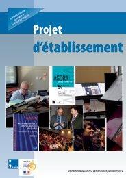 Téléchargez le projet d'établissement - Injep