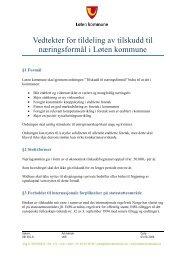 Vedtekter for tildeling av tilskudd til næringsformål i Løten kommune