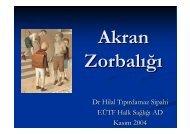 Akran zorbalığı - Halk Sağlığı AD, Ege Üniversitesi Tıp Fak.
