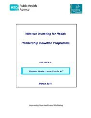 Western Investing for Health Partnership Induction Programme