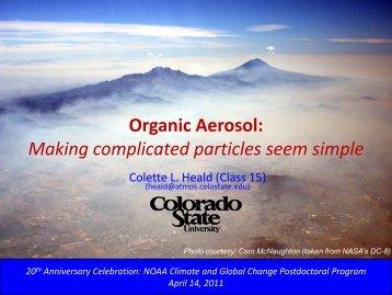 Organic Aerosol - VSP   UCAR Visiting Scientist Programs