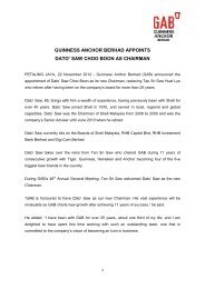 guinness anchor berhad appoints dato' saw choo boon as ... - Gab