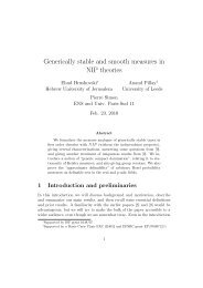 Generically stable and smooth measures in NIP theories (with E ...