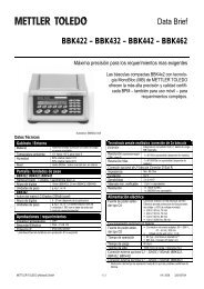 Databrief BBK4x2 - METTLER TOLEDO