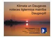 Klimata un Daugavas noteces ilgtermiĦa mainība Daugavpilī ...