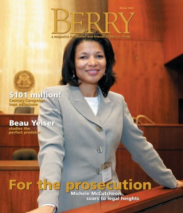 Berry Magazine template - Berry College