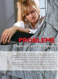Probleme - Chance(n) zum Wachstum - Ethos