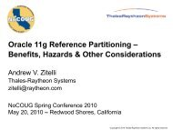 Oracle 11g Partitioning by Reference - NoCOUG