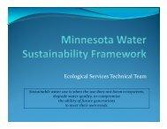 presentation - Water Resources Center - University of Minnesota