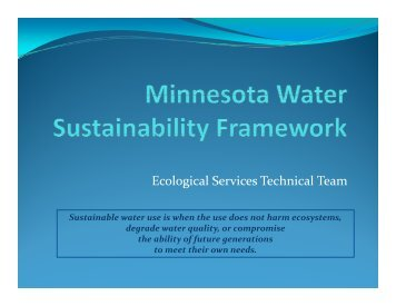 presentation - Water Resources Center - University of Minnesota