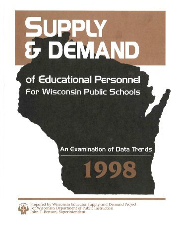 An Examination of Data Trends, 1998 - Teacher Education ...