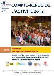 compte-rendu-2012 - Association Prévention Routière