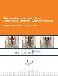 Misch International Implant Institute® Canada ... - BioHorizons