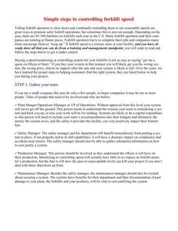 9 steps -controlling speed.pub - Forklifttrainingsystem.com