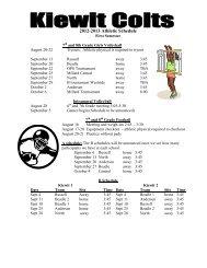 2012-2013 Athletic Schedule