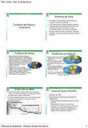 Tectônica de Placas e Vulcanismo Dinâmica da Terra Tectônica de ...