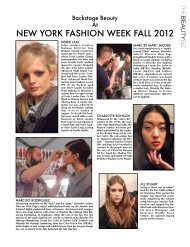 New YOrk FaSHiON week FaLL 2012 - Beauty Fashion
