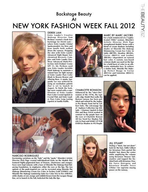 New YOrk FaSHiON week FaLL 2012 - Beauty Fashion