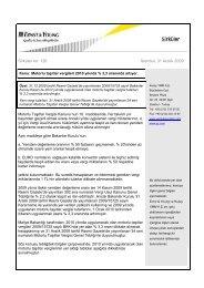 Motorlu taşıtlar vergileri 2010 yılında % 3,3 oranında artıyor.