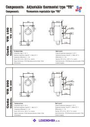"Components: Adjustable thermostat type ""TR"" - Lehengoak"