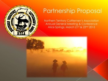 Partnership Proposal - Northern Territory Cattlemen's Association